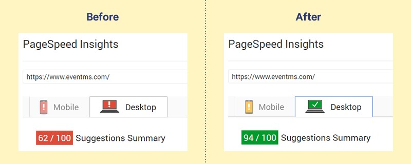 Pagespeed improvements