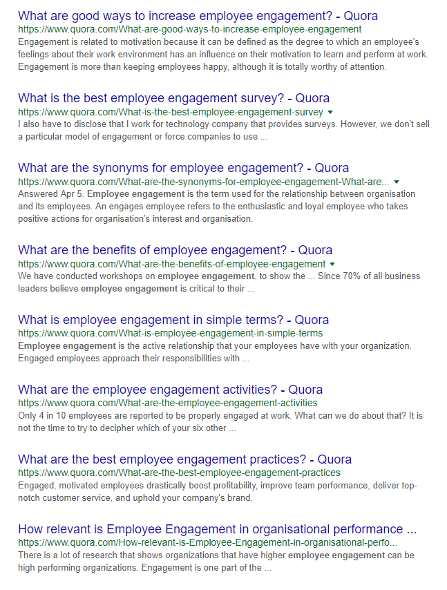 Quora site search